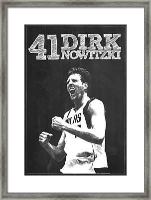 Dirk Nowitzki Framed Print by Semih Yurdabak