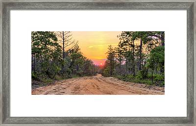 Dirt Road Sunset Framed Print by JC Findley