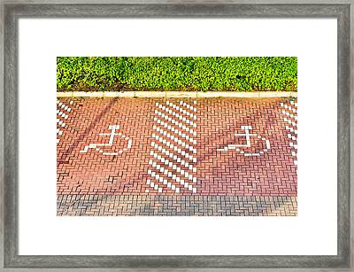 Disabled Parking Framed Print by Tom Gowanlock