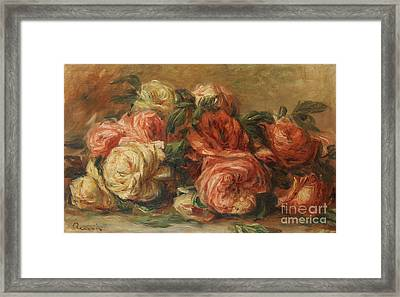 Discarded Roses  Framed Print by Pierre Auguste Renoir