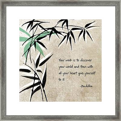 Discover Your World Framed Print by Linda Woods