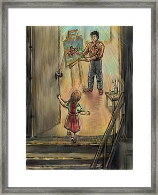 Discovering Daddy's World Framed Print by Dawn Senior-Trask
