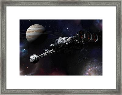 Discovery Near Jupiter Framed Print by Joseph Soiza