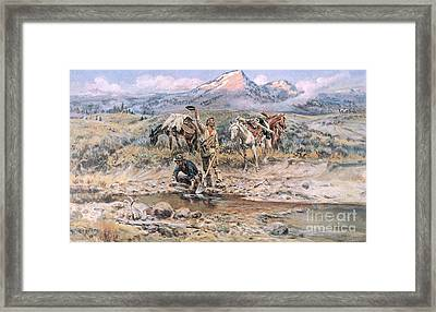 Discovery Of Last Chance Gulch Montana Framed Print by Charles Marion Russell