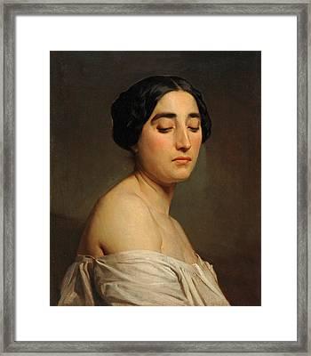 Disdain Framed Print by William-Adolphe Bouguereau