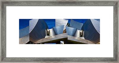 Disney Concert Hall-montage (color Version) Framed Print by Ron Jones