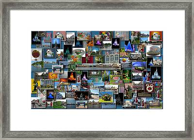 Disney World Collage Rectangle Framed Print by Thomas Woolworth