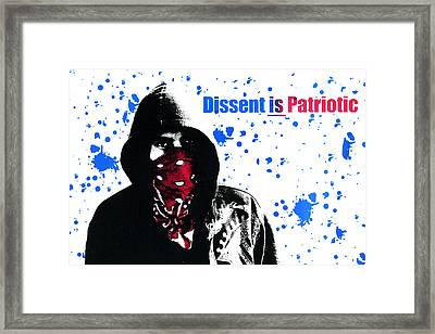 Dissent Is Patriotic Framed Print by Jeffery Ball