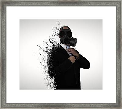 Dissolution Of Man Framed Print by Nicklas Gustafsson