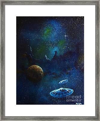 Distant Nebula Framed Print by Murphy Elliott