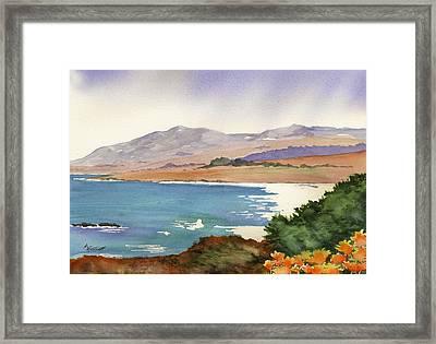Distant Shore Framed Print by Marsha Elliott
