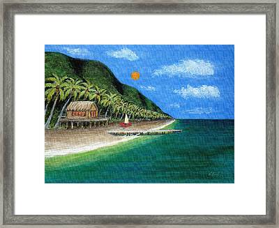 Distant Shores Framed Print by Gordon Beck