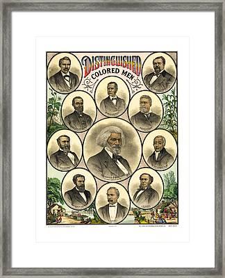 Distinguished Colored Men   1883 Framed Print by Daniel Hagerman