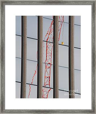 Distorted Reflection Of A Tower Crane Framed Print by Thom Gourley/Flatbread Images, LLC