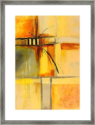 Distractions 1 Abstract Painting Framed Print by Nancy Merkle