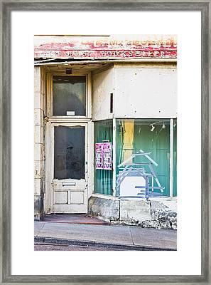 Disused Shop Framed Print by Tom Gowanlock