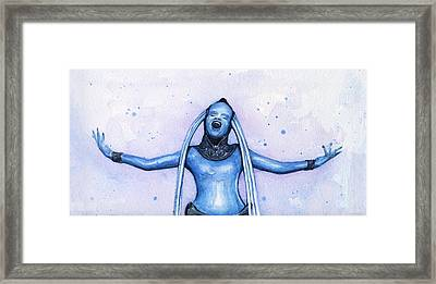 Diva Plavalaguna Fifth Element Framed Print by Olga Shvartsur
