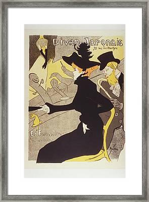 Divan Japonais 1895 Lithograph Framed Print by Bekare Creative