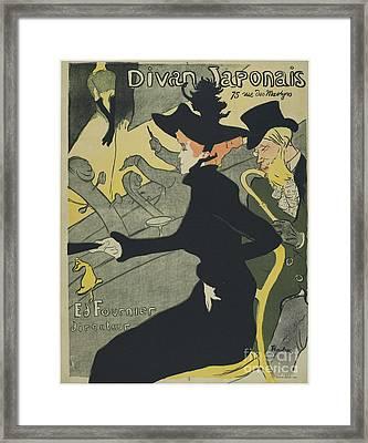 Divan Japonais Framed Print by Henri de Toulouse