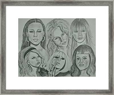 Divas Now Framed Print by Sandra Valentini