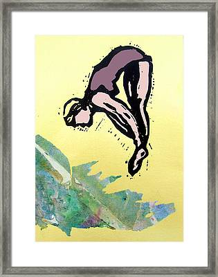 Dive - Into Morning Waves Framed Print by Adam Kissel