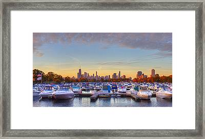 Diversey Harbor Framed Print by Twenty Two North Photography