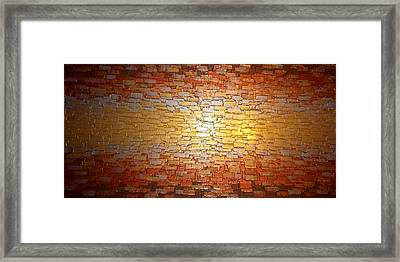 Divided Reflection Framed Print by Daniel Lafferty