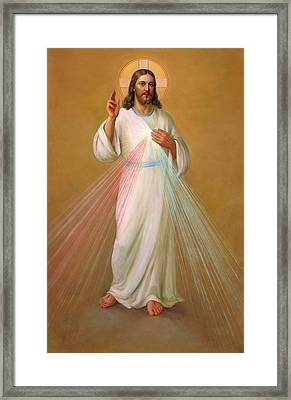 Divine Mercy - Divina Misericordia Framed Print by Svitozar Nenyuk
