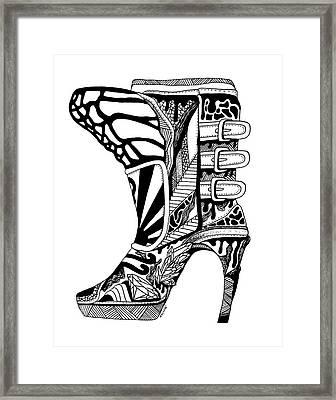 Divine Stairway High Heel Framed Print by Kenal Louis