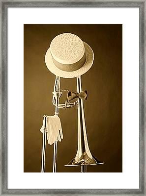 Dixieland Trombone Framed Print by M K  Miller