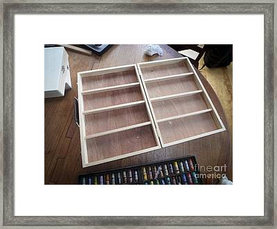 Diy Pastel Box Framed Print by Edward Fielding