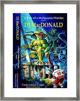 Dj Macdonald Book Cover Framed Print by Hanne Lore Koehler