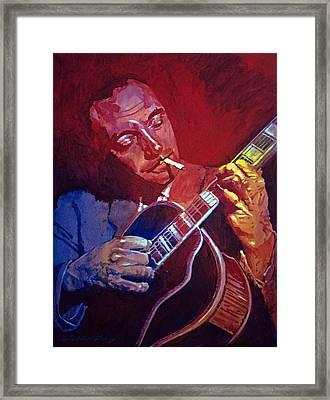 Django Sweet Lowdown Framed Print by David Lloyd Glover