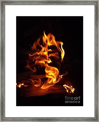 Djinn Fire Spirit Framed Print by Oberon   Ahura Star