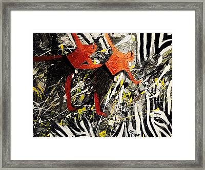 Djoniba Framed Print by Mireya Schoo