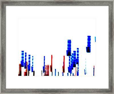 Dna Slide Framed Print by Methune Hively