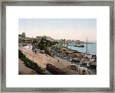 Dnieper River - Kiev - Ukraine - Ca 1900 Framed Print by Dnieper RiverInternational  Images