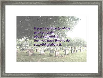 Do Something About It Framed Print by Beauty For God