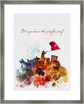 Do You Hear The People Sing? Framed Print by Rebecca Jenkins