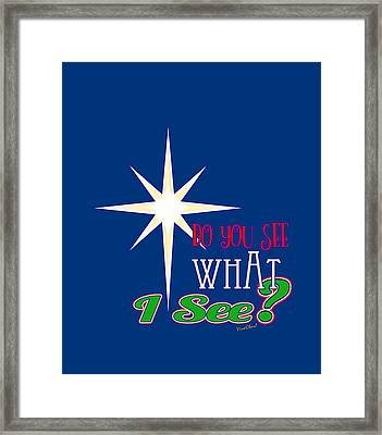 Do You See What I See? Framed Print by Chas Sinklier