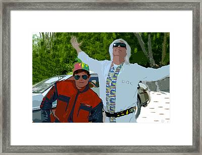 Doc And Marty Framed Print by David Lee Thompson