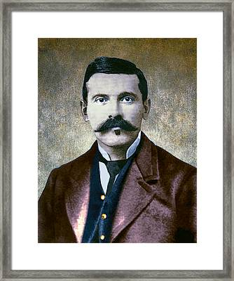Doc Holliday Painterly Framed Print by Daniel Hagerman