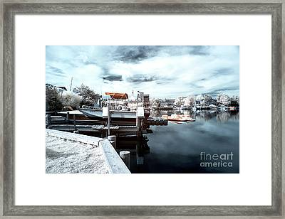 Dock Angles Infrared Framed Print by John Rizzuto