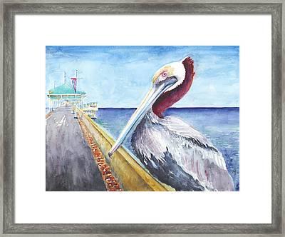 Dock Master Framed Print by Arthur Fix