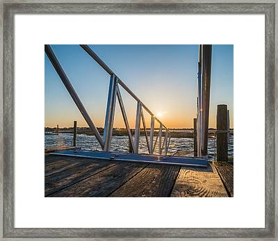 Dock On The Bay Framed Print by Kristopher Schoenleber