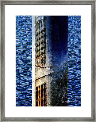 Dock Pile Framed Print by Randall Weidner
