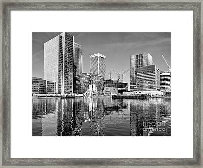 Docklands Construction Framed Print by John G Kavanagh
