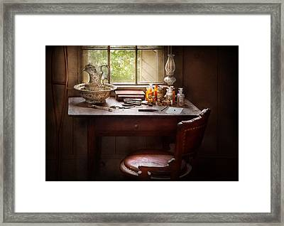 Doctor - Research  Framed Print by Mike Savad
