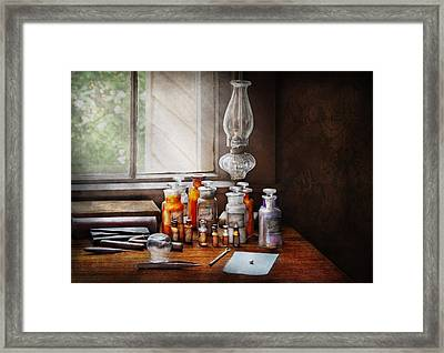Doctor - The Doctor Is In Framed Print by Mike Savad