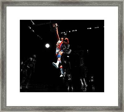 Doctor J Over The Top Framed Print by Brian Reaves